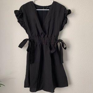 Zara frilly black dress